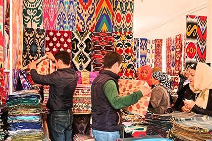 Kumtepa Bazaar in Margilan